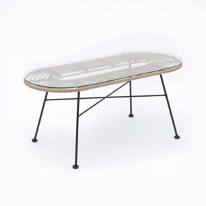 Havana Lounge Table Geflecht, Natur